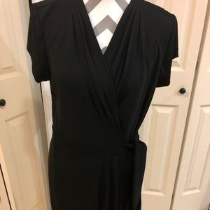 Ann Taylor black wrap dress 12P